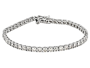 Pre-Owned Candlelight Diamonds™ 10K White Gold Tennis Bracelet 3.00ctw