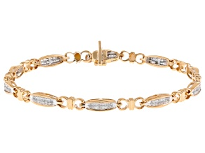 Pre-Owned White Diamond 14K Yellow Gold Tennis Bracelet 1.00ctw