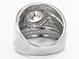Pre-Owned White Cubic Zirconia Rhodium Over Sterling Silver Ring 3.61ctw