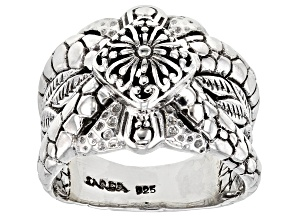 Pre-Owned Sterling Silver Leaf Ring