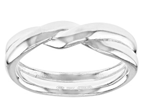 Pre-Owned Sterling Silver Twisted Rope Ring