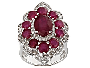 Pre-Owned Mahaleo Ruby Sterling Silver Ring 7.49ctw