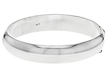 Picture of Pre-Owned Sterling Silver 12MM 7 Inch Bangle Bracelet
