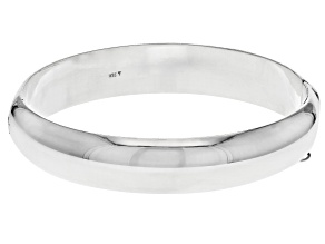Pre-Owned Sterling Silver 12MM 7 Inch Bangle Bracelet