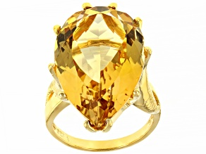 Pre-Owned  Citrine 18k Yellow Gold Over Sterling Silver Ring  20.00ctw