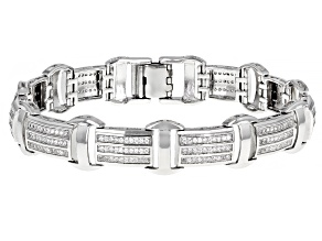 Pre-Owned White Cubic Zirconia Rhodium Over Sterling Silver Bracelet 2.70ctw