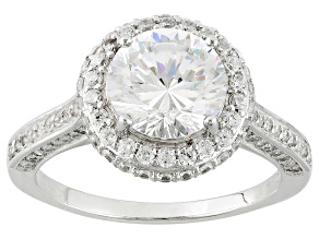 Pre-Owned Cubic Zirconia Silver Ring 4.37ctw (2.82ctw DEW)