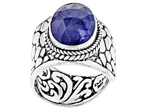 Pre-Owned Tanzanite Sterling Silver Solitaire Ring 4.46ctw