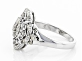 Pre-Owned White Diamond Rhodium Over Sterling Silver Ring 0.72ctw