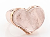 Pre-Owned Pink Rose Quartz 18K Rose Gold Over Sterling Silver Solitaire Ring