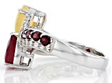 Pre-Owned Mahaleo Ruby Sterling Silver Bypass Ring 2.47ctw.