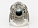 Pre-Owned Blue Topaz Silver Ring 5.87ct