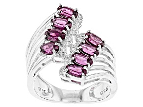 Pre-Owned Purple Rhodolite Sterling Silver Ring 2.30ctw