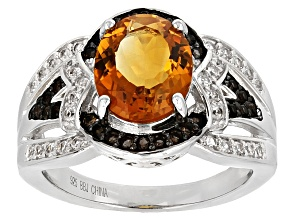 Pre-Owned Orange Madeira Citrine Sterling Silver Ring 2.81ctw