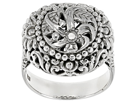 Pre-Owned White Diamond Accent Silver Ring .06ct