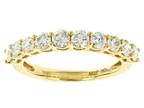 Pre-Owned Natural Yellow Diamond 10k Yellow Gold Band Ring 1.00ctw