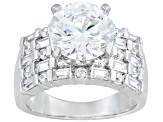 PRE-OWNED BELLA LUCE® DILLENIUM 8.40CTW RHODIUM PLATED STERLING SILVER RING