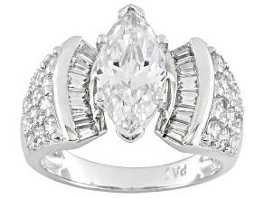 3.36ctw Cubic Zirconia Silver Bridal Ring