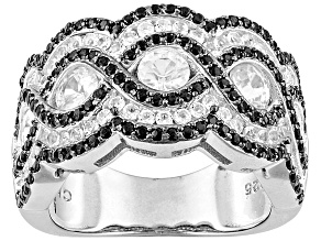 White zircon sterling silver band ring 2.13ctw