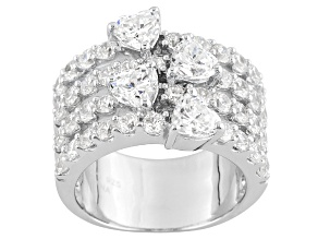 Cubic Zirconia Silver Ring 6.20ctw