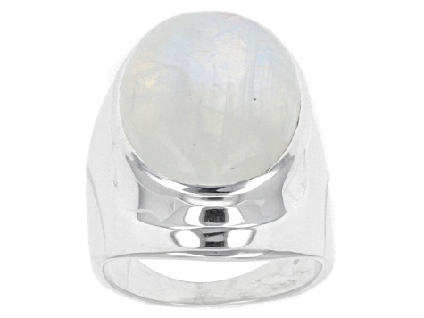 Pre-Owned Rainbow Moonstone Sterling Silver Ring