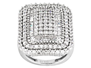 Pre-Owned Cubic Zircnia Silver Ring 4.10ctw