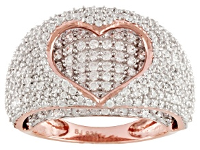 Cubic Zirconia 18k Rose Gold Over Silver Ring 3.50ctw