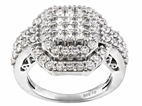 Cubic Zirconia Sterling Silver Ring 2.59ctw
