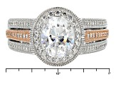 cubic zirconia platineve and eterno ring 5.16ctw
