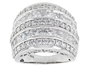 Pre-Owned Cubic Zirconia Silver Ring 8.73ctw