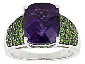 Purple African Amethyst Sterling Silver Ring 4.98ctw