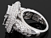 Cubic zirconia silver ring 4.20ctw