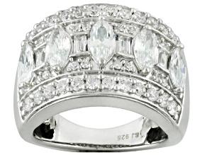 Cubic Zirconia Silver Ring 4.70ctw