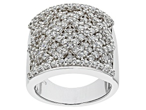 Cubic Zirconia Silver Ring 2.31ctw
