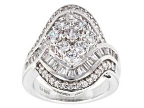 Cubic Zirconia Silver Ring 4.90ctw