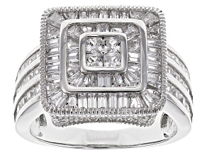 Pre-Owned Cubic Zirconia Sterling Silver Ring 4.21ctw