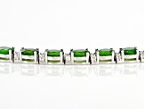 Pre-Owned Green Chrome Diopside Sterling Silver Bracelet 15.15ctw