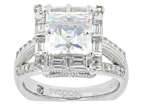 Pre-Owned White Cubic Zirconia Platineve Ring 7.78ctw
