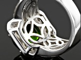 Pre-Owned Green Chrome Diopside Sterling Silver Ring 3.44ctw  .44