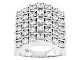 Pre-Owned Cubic Zirconia Silver Ring 4.10ctw