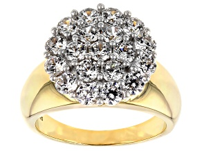 Cubic Zirconia 18k Yellow Gold Over Silver Ring 3.80ctw