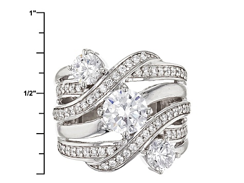 Pre-Owned Cubic Zirconia Silver Ring 4.86ctw