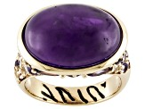 Purple Amethyst 18k Gold Over Silver Ring. 1.77ctw