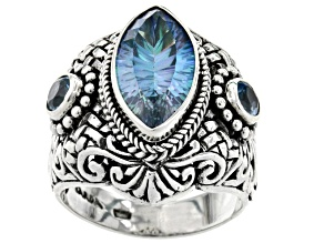Pre-Owned Beyond Elitism™ Mystic Quartz® Silver Ring 3.50ctw
