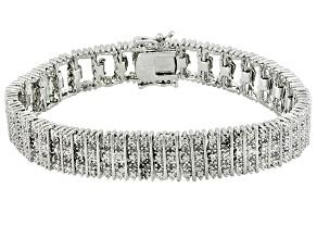 Pre-Owned Diamond Rhodium Over Brass Bracelet 1.00ctw