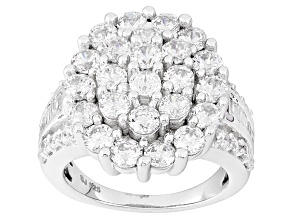 Pre-Owned Cubic Zirconia Silver Ring 7.28ctw