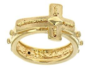 14k Yellow Gold Artformed Cross Ring