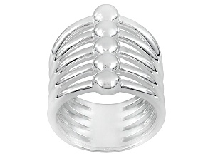Pre-Owned Sterling Silver Multi-Row Band Ring