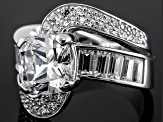 Pre-Owned Cubic Zirconia Silver Ring 10.49ctw