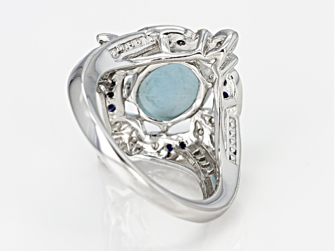 Blue Larimar Sterling Silver Ring .69ctw